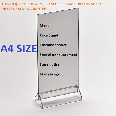 X6 Restaurant table menu Takeaway price stand Notice sign holder Sale display A4