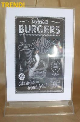 X6 Restaurant table menu Takeaway price stand Notice sign holder Sale display A5