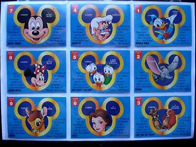 1993 Dynamic (Aus) *magic Of Disney Stickers* 3 Complete Sets 42/20/20