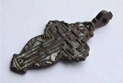 Ancient Old Believer Bronze Cross Female