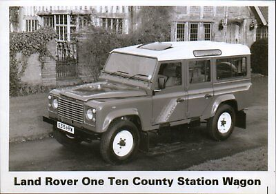 Land Rover 110 County Station Wagon press photo 1987