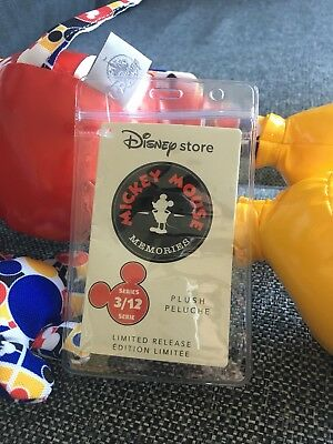 1x Mickey Mouse Memories Plush Tag Protector August, September, October Etc