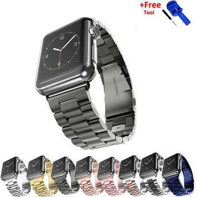 For Apple Watch iWatch Stainless Steel Band Link Bracelet Strap Belt 38mm 42mm