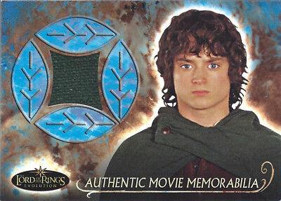 2006 Topps Lord of the Rings Evolution Frodo Elijah Wood Movie Relic Cloak