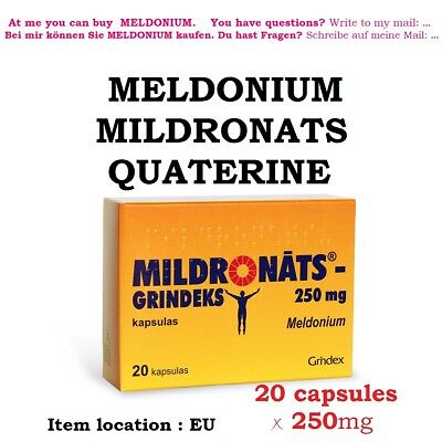 Food supplement 20 Mildronats Meldonium