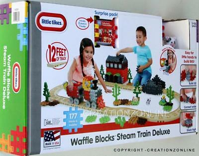 Little Tikes Waffle Blocks Steam Train Deluxe Set Kids Building Toys 177 Blocks