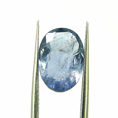 3.52 Ct Oval Natural Blue Iolite Loose Gemstone Untreated Stone - 116772