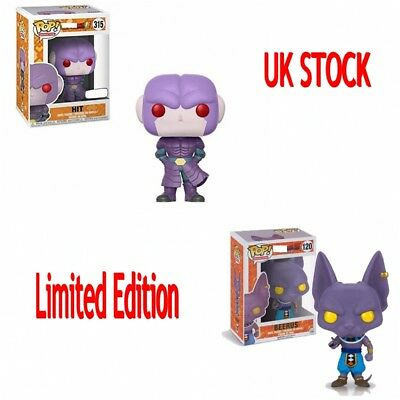 New Limited Funko POP Dragon Ball Super Beerus Hit Goku Vinyl Figure Toy Gift UK