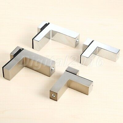 Zinc Alloy Glass Shelf Brackets Holder Support Clamp For 3-28mm Thickness Glass