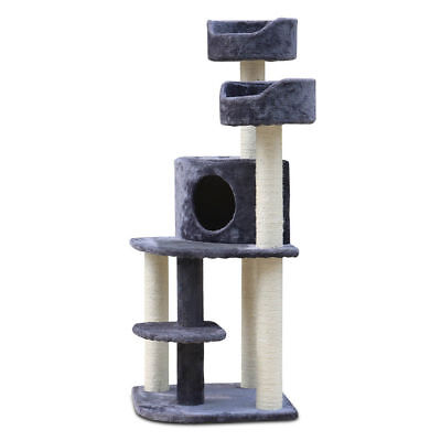 126cm Cat Tree Scratching Post Scratcher Pole Condo Gym Toy Furniture @TOP