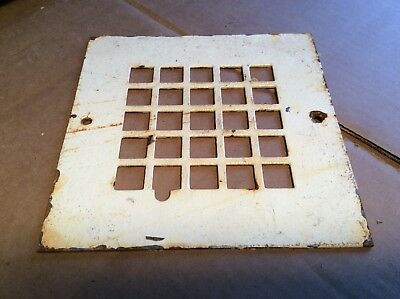 """Vintage Case Metal 8 1/4"""" X 8 1/4"""" Heating Grate / Vent - 1/8"""" Thick - Very Good"""