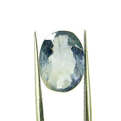 3.46 Ct Oval Natural Blue Iolite Loose Gemstone Untreated Stone - 116776