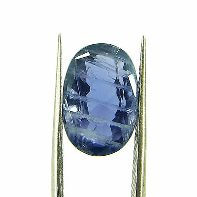 6.86 Ct Oval Natural Blue Iolite Loose Gemstone Untreated Stone - 116755