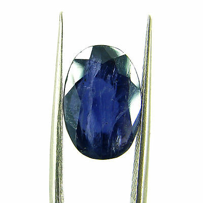 4.51 Ct Oval Natural Blue Iolite Loose Gemstone Untreated Stone - 116763