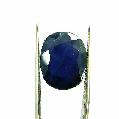 12.10 Ct Oval Natural Blue Iolite Loose Gemstone Untreated Stone - 116750