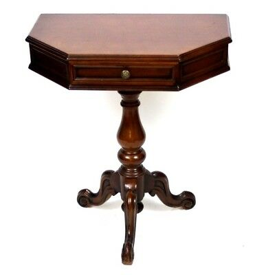 Antique Mahogany Pedestal Console Table - FREE Shipping [PL4447]