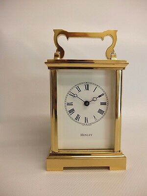 Henley English Carriage Clock Anglaise / Hand Crafted in the UK / RRP £1,995
