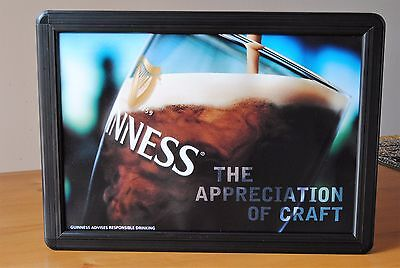 Guinness Insegna Luminosa Display Pub Birreria Vintage