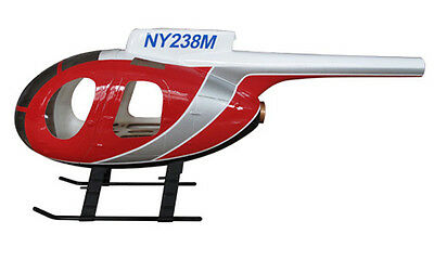 HUGHES MD500D POLICE 450 Scale Helicopter Fuselage for Align T-Rex EXI  CopterX