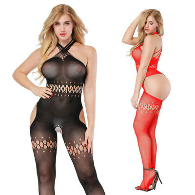 Black/Red Sexy-Women's-Lingerie-Body stockings-Dress-Nightwear-COSPLAY-Babydoll