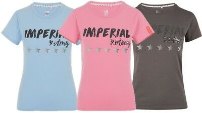 Imperial Riding T-shirt Twister zum Reiten XS S M L XL Iron Rose Blue Breeze