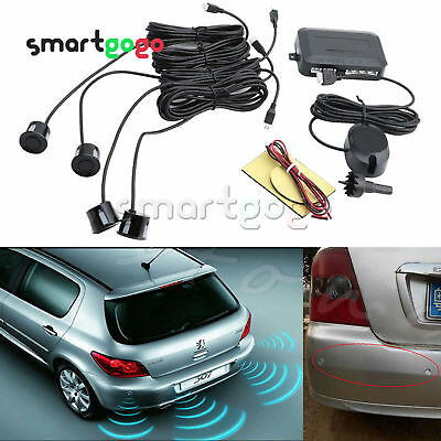 4 Parking Sensors Car Reverse Rear Buzzer Radar System Alarm KitsBSG