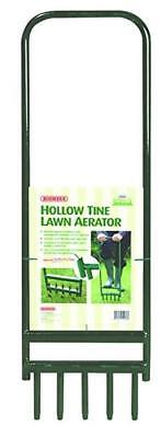 Lawn Aerator Steel Hollow Tine Green with 5 Tines 92 cm