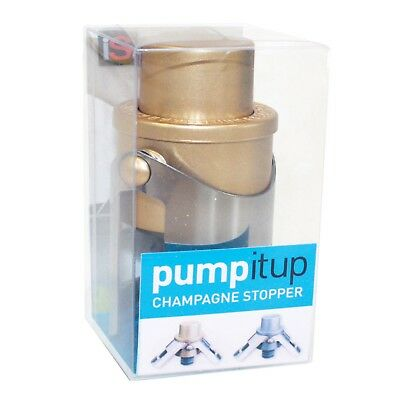 Pump It Up Champagne Stopper - Gold - Keep Your Champagne Bubbly!