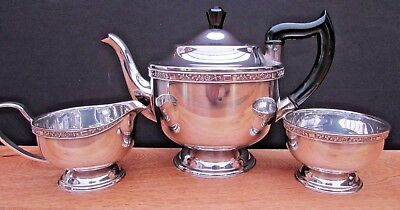 Vintage Viners Of Sheffield Silver Plated Tea Set Made In England Stunning