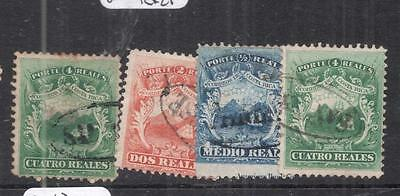 Costa Rica SC 1-3 Lot of Four Nice Cancels VFU (4dnc)