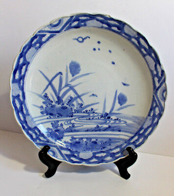 A large Japanese Arita porcelain dish -  late 17th/early 18th century