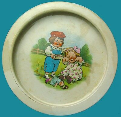 BUFFALO POTTERY Early 1900's Child's Dish - DOLLY DINGLE - Campbell Soup Kid