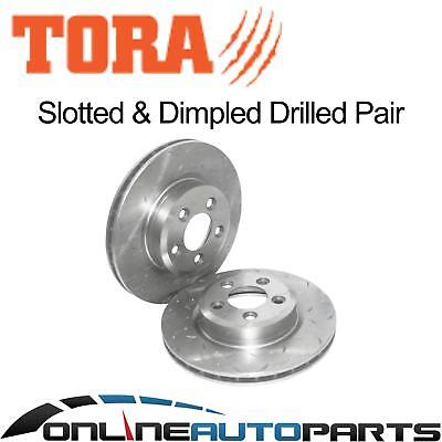 2 Rear Drilled + Slotted Brake Rotors Ford Falcon EA II EB ED XR6 XR8 1990-1994