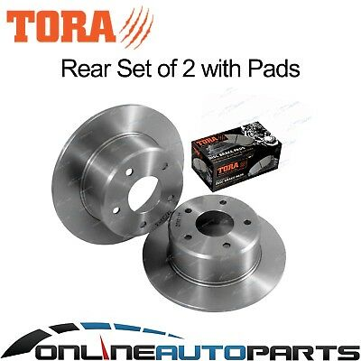 2 Rear Disc Rotors + Brake Pads suits Toyota Lexcen VN VP VR VS 91~97 V6 non IRS