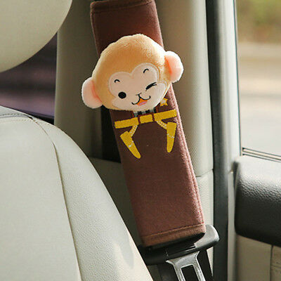 Cute Cartoon Car Safety Seat Belt Shoulder Pad Strap Cover Harness Accessory