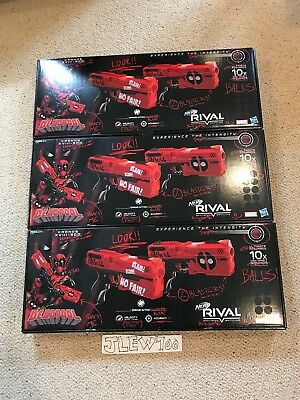 Hasbro Limited Edition Nerf Rival Deadpool Kronos XVIII-500 Dual Pack 3 Pack