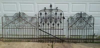 Architectural Antique Victorian Wrought Iron Gate Iron Fence Beautiful! Handmade