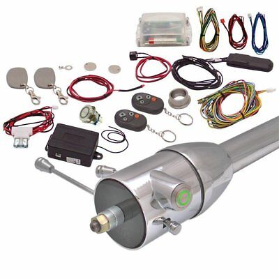 Green One Touch Engine Start Kit with RFID Column Insert and Remote truck
