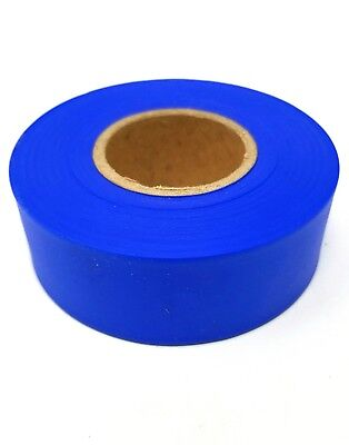 "Blue 1 3/16"" x 300 ft Vinyl Flagging Tape / Marking Ribbon CHOOSE QUANTITY"