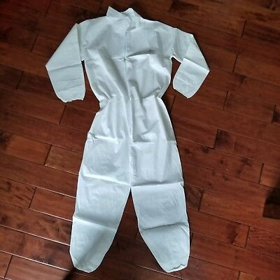 PosiWear Protective Paint Coverall Zip Suit Sz M Elastic Wrist & Ankle New