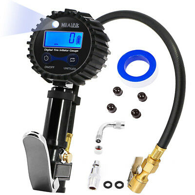 Digital Tire Inflator with Pressure Gauge 200 PSI All Vehicles USA STOCK