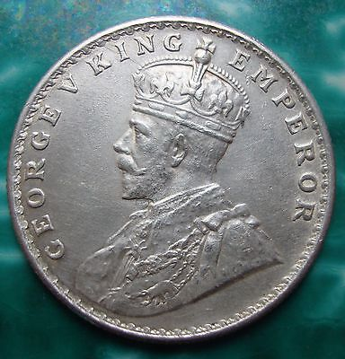 India-british Rupee,1918 George V King Emperor. One Rupee.Silver.Uncirculated