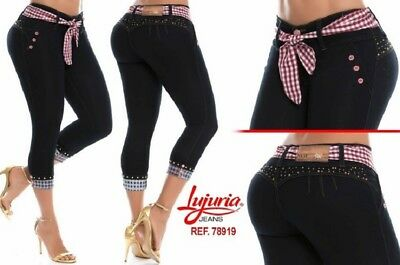 LUJURIA, Authentic Colombian Push Up Jeans, Levanta Cola, Jeans Colombianos