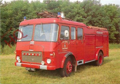 Picture Postcard::EAST RIDING FIRE BRIGADE, COMMER QX/CARMICHAEL WATER TENDER