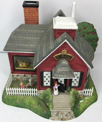 Partylite olde world village - school house P7963 no box COLLECTORS ITEM!