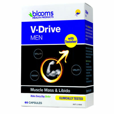Blooms V-Drive for Men Strength and Libido 60 Capsules