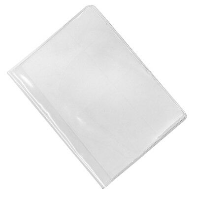 Waterproof Plastic Passport Cover Clear Card Organizer Protector Case Clear