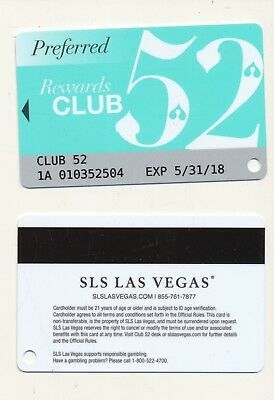 PREFERRED 52---SLS--Las Vegas,NV--Slot Card---SC-7