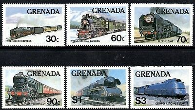 (Ref-12987) Grenada 1982 Famous Trains of the World  SG.1212/1217  Mint MNH