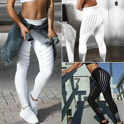 Women Yoga Fitness Leggings Running Jogging Gym Stretch Sports Pants Trousers